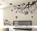 Lovely Flower With Butterfly Wall Stickers - home-decorating photo
