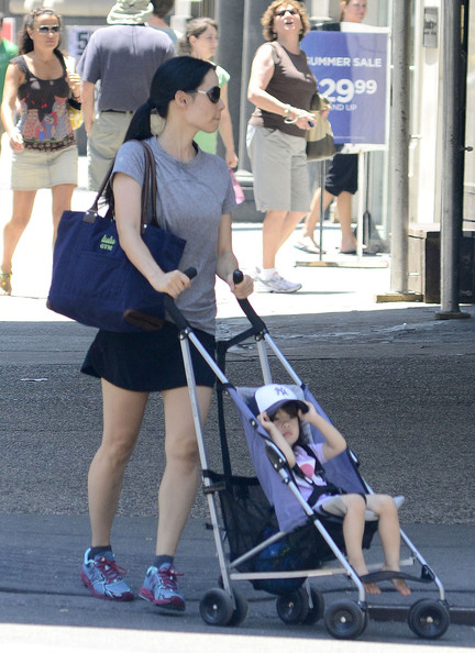 Lucy Liu Strolls Through NYC with a Young Family Member [June 30]