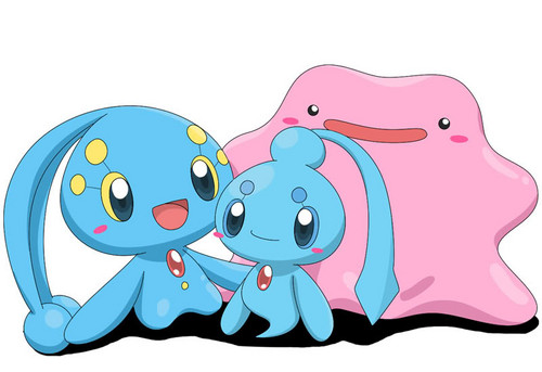 Manaphy, Phione and Ditto