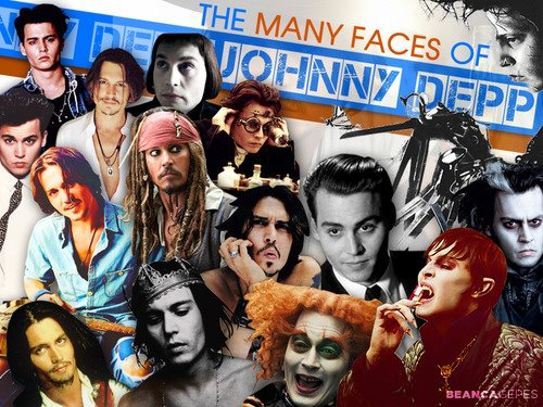 Many faces of Johnny Depp Fankunst <3