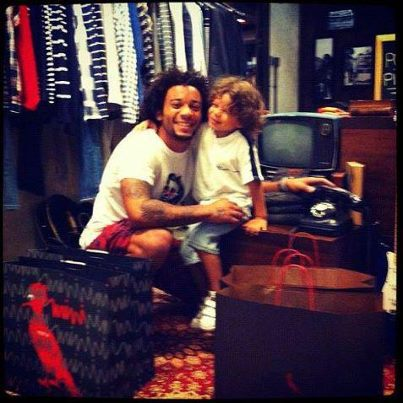 Marcelo and his son Enzo (: