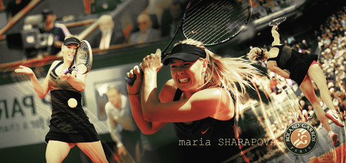 Maria Sharapova wallpaper probably containing a tennis player, a tennis racket, and a tennis pro called Maria Sharapova