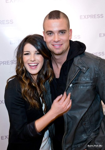 Shenae Grimes wallpaper with a well dressed person titled Mark Salling and Shenae Grimes