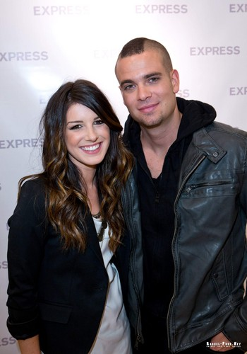 Shenae Grimes Hintergrund with a business suit, a well dressed person, and a portrait titled Mark Salling and Shenae Grimes