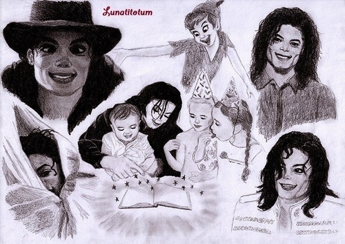 Michael Jackson and his 3 kids Prince, Paris and Blanket