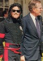 Michael and George Bush - michael-jackson photo