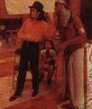 Michael and Michael's niece Brandi Jackson on the chair - michael-jackson photo