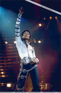 Michael strkes a pose