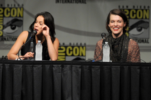 Michelle - Comic-Con International 2012 -Screen Gems' Resident Evil Retribution Panel - July 13, 201