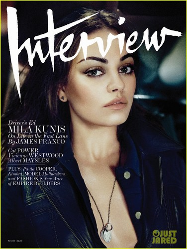 Mila Kunis Covers 'Interview Magazine' August 2012 - mila-kunis Photo