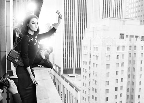 Mila is featured in a saat campaign for Dior