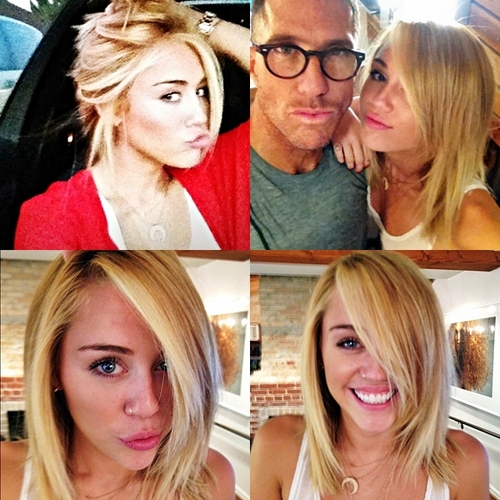 Miley goes blonde<333