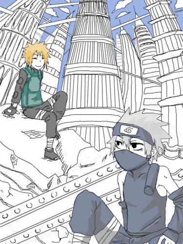 Minato & Kakashi <3