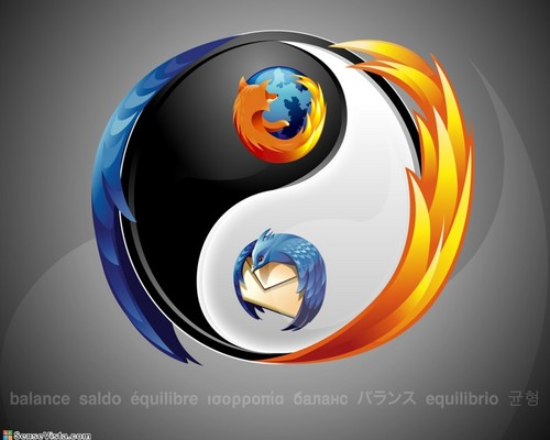 Mozilla Firefox And Ying And Yang