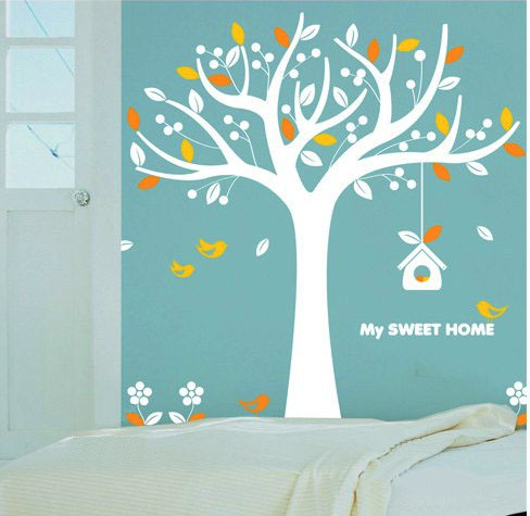 My Sweet Home Colorful Tree Wall Sticker