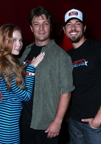 Nathan Fillion, Molly Quinn & Zachary Levi at Comic Con 2012