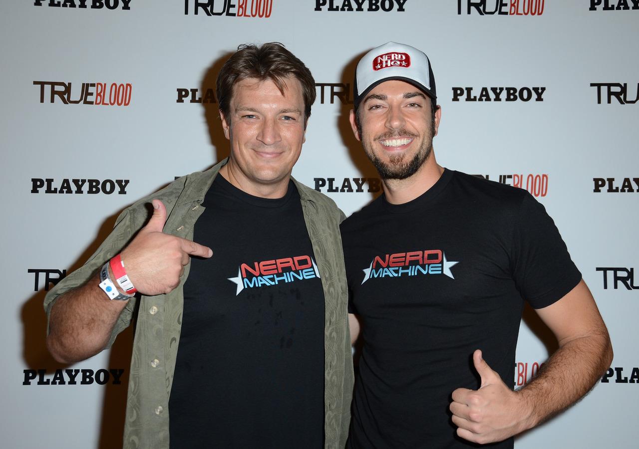 Nathan Fillion & Zachary Levi at Comic Con 2012