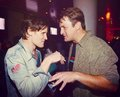 Nathan Fillion with Matt Smith at Comic Con 2012