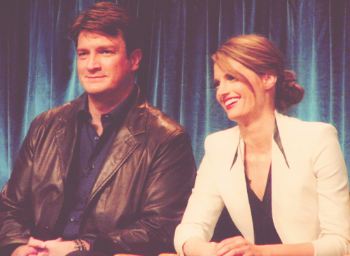 Nathan Fillion & Stana Katic wallpaper probably with a business suit and a well dressed person entitled Nathan and Stana