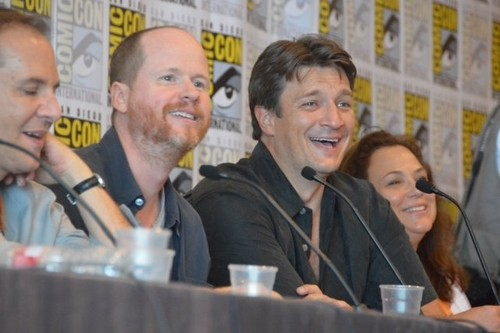 Nathan with Joss Whedon at Comic Con 2012