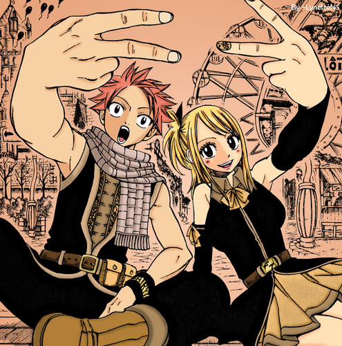 Natsu and Lucy as chapter 134's cover <3