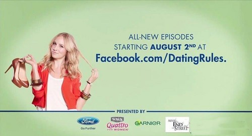 "New ""Dating Rules 2"" advertisement banner."