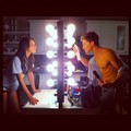 New behind-of-scene photo of Specer & Toby {Troian & Keegan)