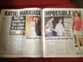 Newspapers responding to the divorce - katie-and-tom photo