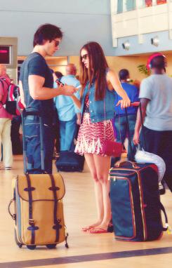 Nian at airport