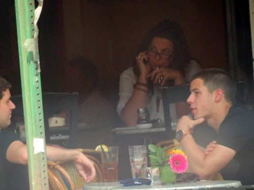 Nick Jonas and Michael Urie NYC