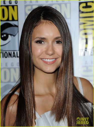 Nina Dobrev attend Comic-Con Panel