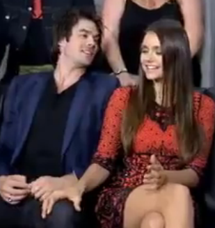 Nina's hand ♥ - ian-somerhalder-and-nina-dobrev Photo