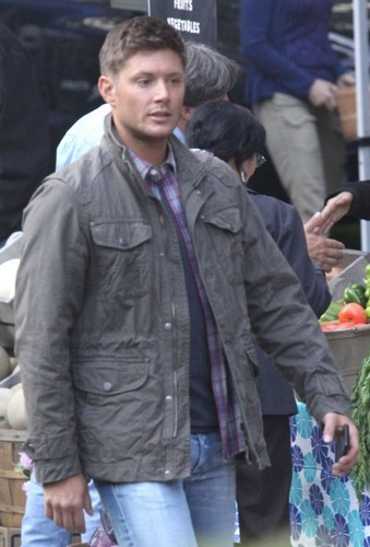 On the set in Vancouver, Canada