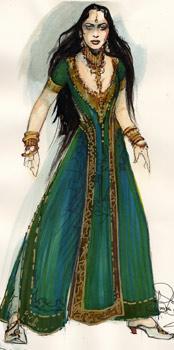 Pandora costume concept art