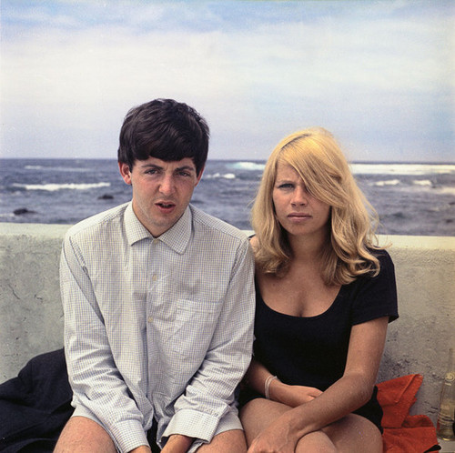 Paul with Astrid Kirchherr