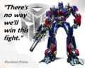 Pessimist Prime has no hope for his team. - transformers fan art