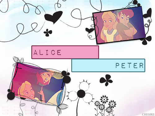 Peter Pan/Alice achtergrond