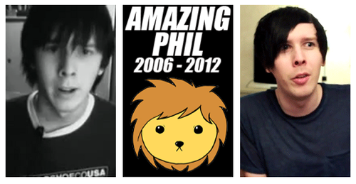 Amazing Phil wallpaper containing anime called Phil Before After