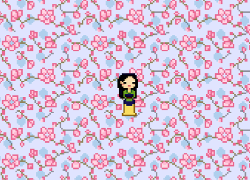 Pixel Mulan - disney-princess Fan Art