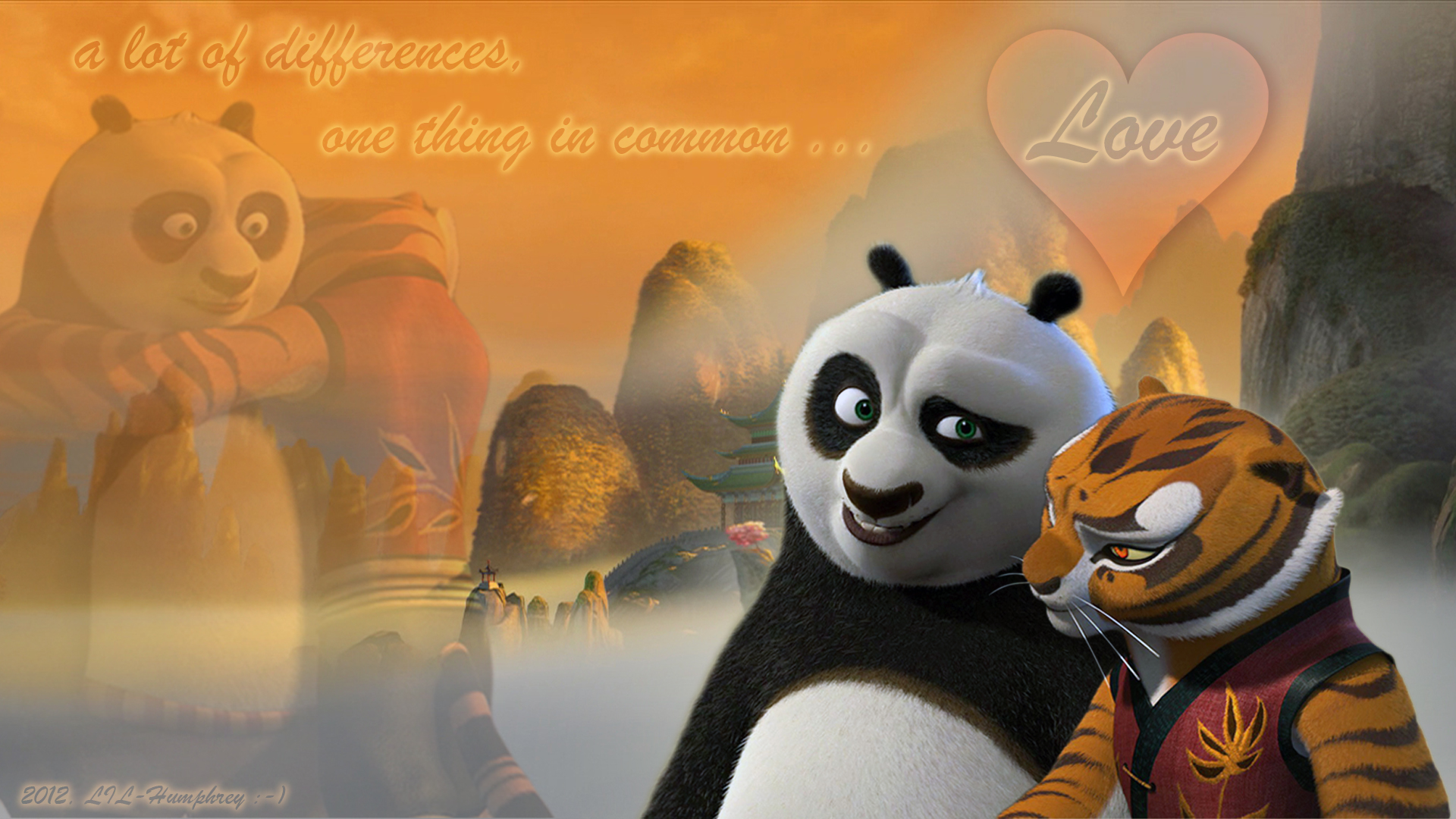 Kung Fu Panda Bilder Po And Tigerin The Togetherness Hd