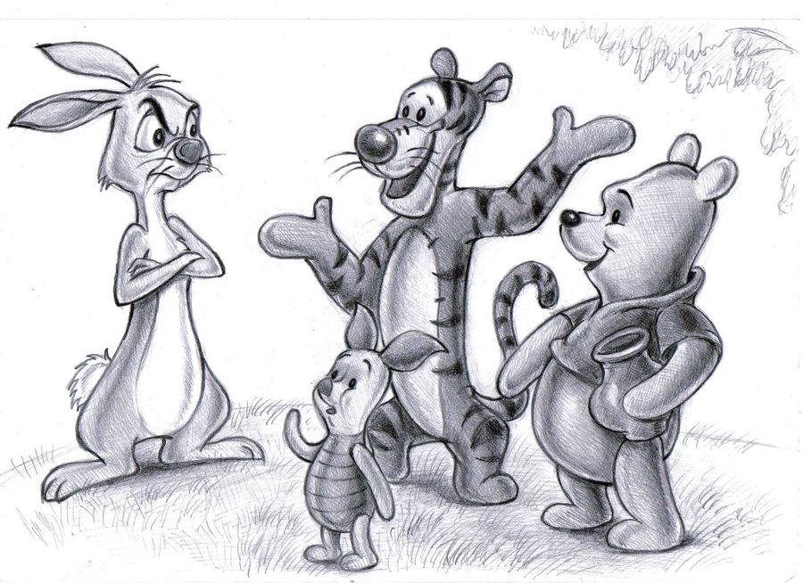 Pooh, Rabbit, Tigger and Piglet