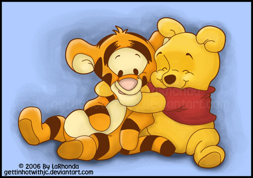 Winnie the Pooh achtergrond possibly with anime called Pooh and Tigger
