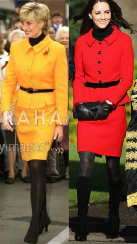 Princess Diana and Duchess Catherine