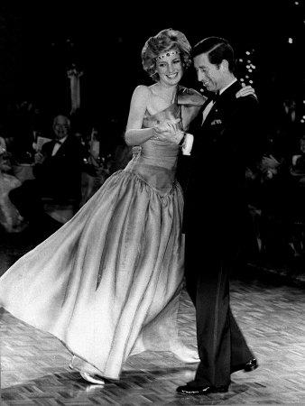 Princess Diana and Prince Charles dancing