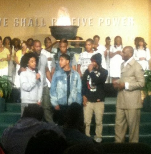Princeton singing at church <3