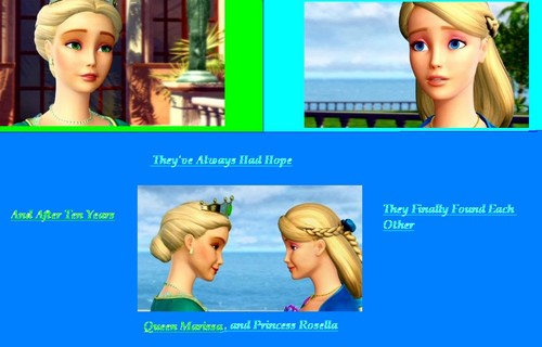 Queen Marissa and Princess Rosella