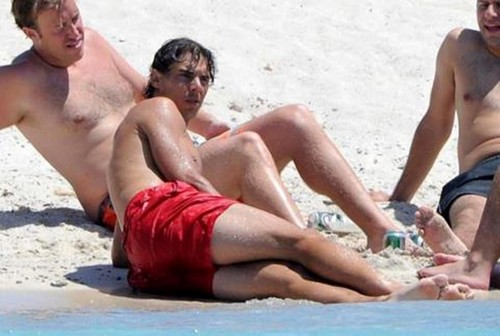 Rafa and men in bờ biển, bãi biển 2012