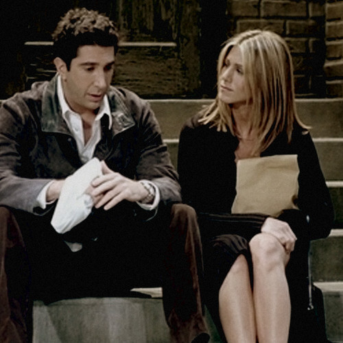 Ross and Rachel wallpaper containing a business suit and a well dressed person entitled Ross and Rachel