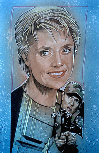 Samantha Carter Hintergrund probably containing Anime entitled Sam