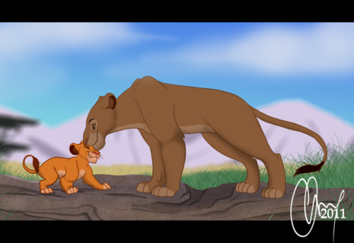 Disney Parents wallpaper entitled Sarabi and Simba